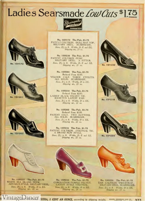 1912 women ladies shoes oxfords and slippers