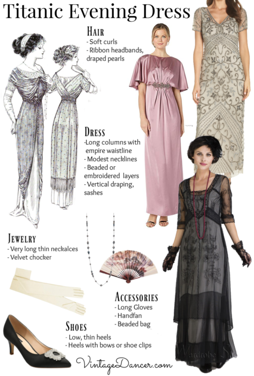 1912 evening dress and accessories guide