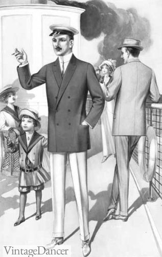 1912 men's yacht outfit