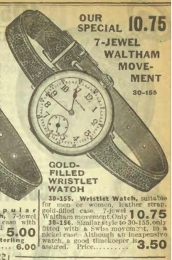 1913 Men's or Women's Wrist Watch