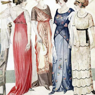 1910s Evening Gowns and Dress History