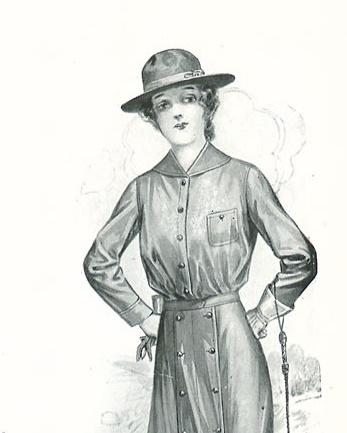 1913 sport blouse women hiking camping riding