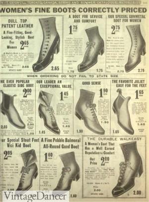 1913 Edwardian boots, Titanic eraa