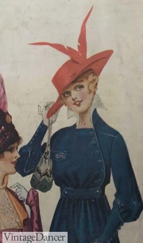 Edwardian purse- 1916 drawstring reticule