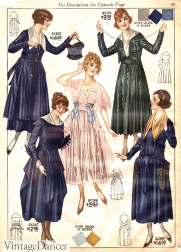 1917-1918 Party dress in the center