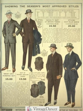 1918- mens rah rah suits on the lower right
