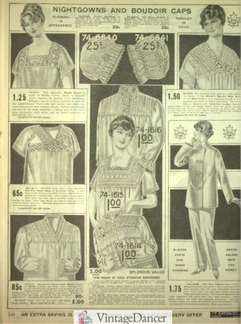 1918 Robes for women nightgowns pajamas sleepwear