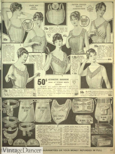 1818 bra / corset cover and sanitary belts