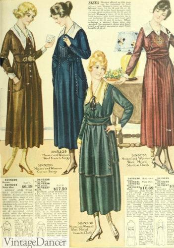 1818 winter day dresses