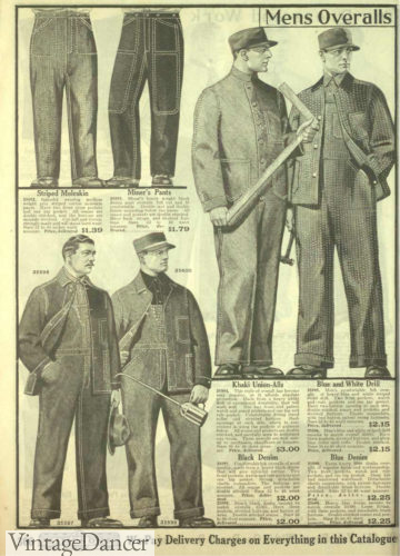 1918 workwear overalls, jeans and jackets