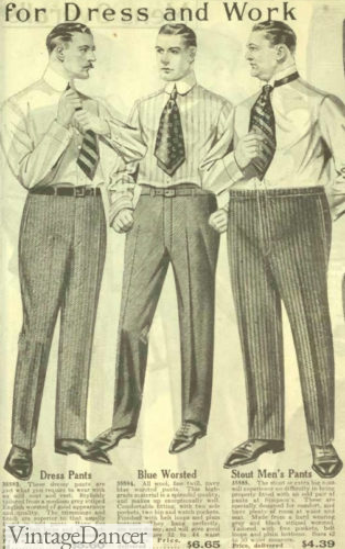1918 men's dress trousers, work pants and stout sized
