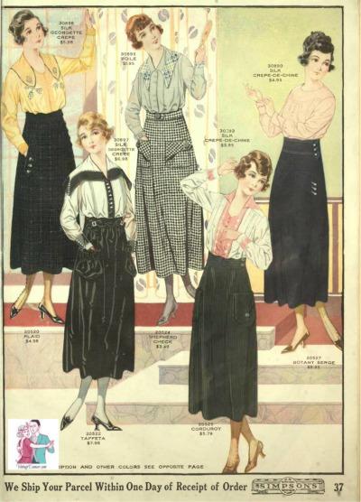 1918 Simpsons  skirt blouse 400