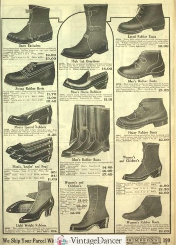 1918 Rubber boots and shoes for men and women