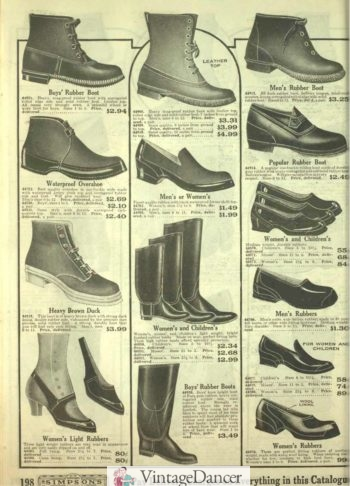 1918 rubber boots and shoes
