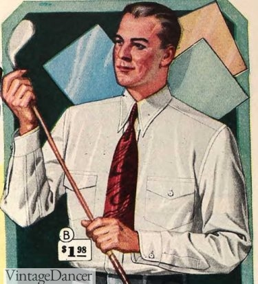 1929 Spearpoint collar shirts with two pockets
