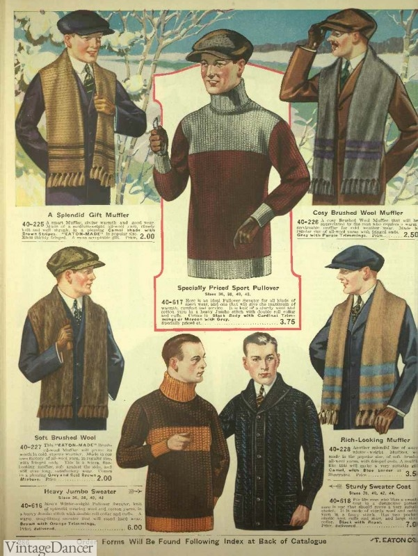 1920s mens sweaters