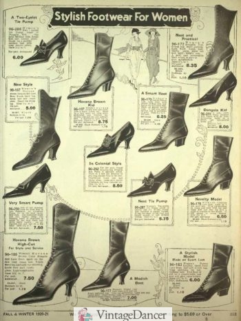 1920 boots and shoes