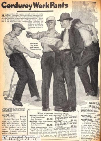 1920 corduroy work pants