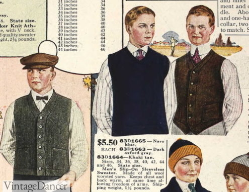 1920 waistcoat and pullover sweater vests