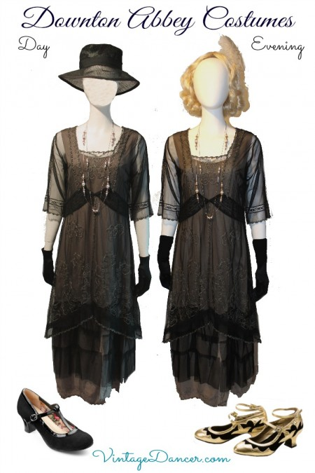 1920s Downton Abbey Day and Night Costumes. Shop these at VintageDancer.com/1920s