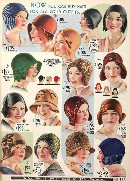 1928 cloche hats- most are brimless