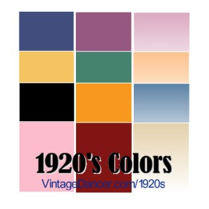 fabric colors 1920s