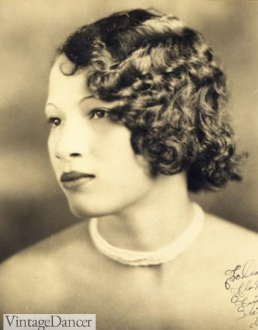 1920s black women hairstyles. Tight curls, all over bob