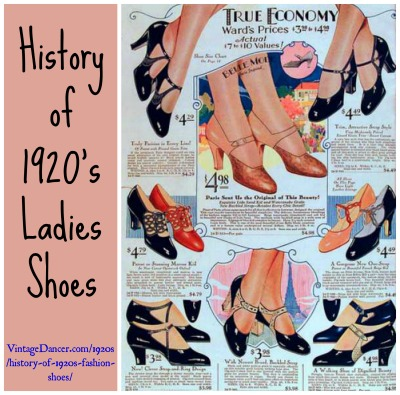 Women's 1920s Shoe Styles and History