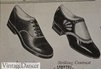1920s Low heel oxford and fancy Mary Jane shoes