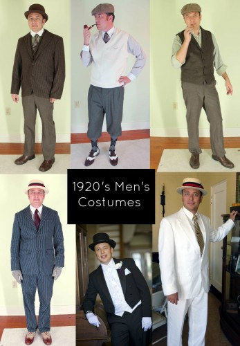 Click to learn how to create 7 different 1920s men's looks.
