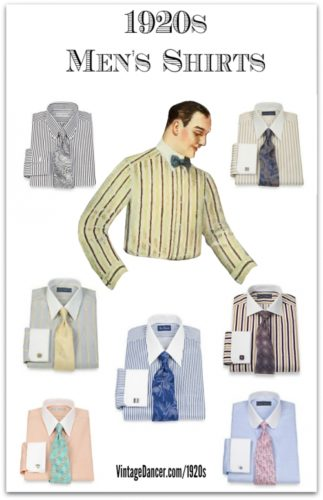 New 1920s Men's Dress Shirt Colors. Find them at VintageDancer