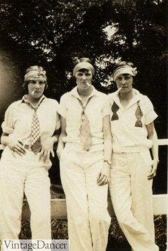 1920s women dressed in mens clothing