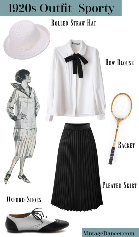 1920s Sporty Outfit, casual daywear