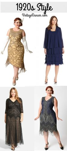 1920s plus size dresses, Great Gatsby, Downton Abbey, Miss Fishers Dresses at VintageDancer