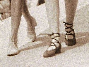 1920s laced beach shoes