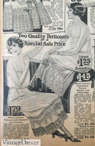 1922 drawstring waist slips