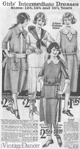1922 Girls/Teen Dresses for ages 12-16