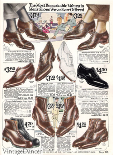 1922 men's almond toe shoes and boots