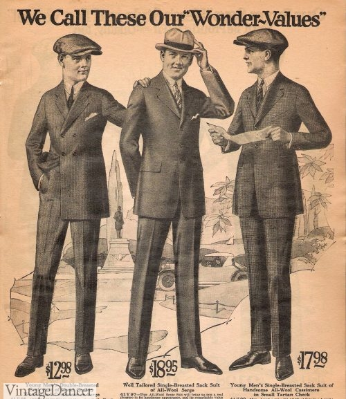 Peaky Blinders fashion - 1922 young mens suits with caps