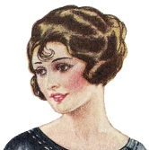 1920s makeup: arched thin eyebrows