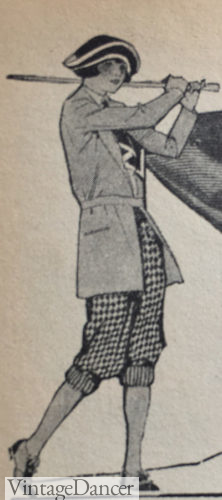 1922 check knickers with sport cardigan for golf