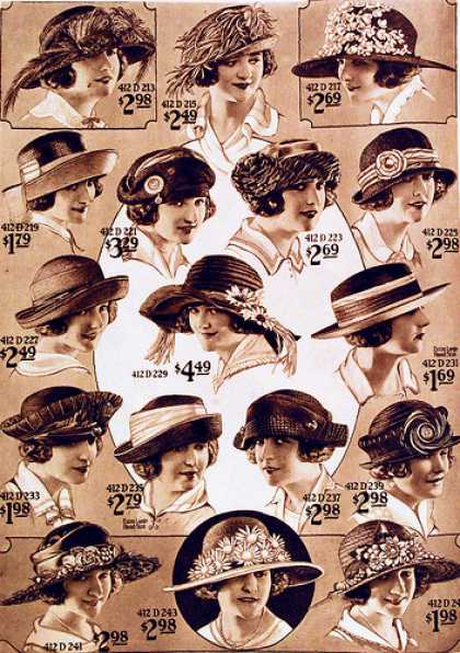 Vintage Hats From The 1920s 1950s