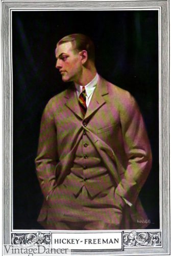 1922 mens tan suits by Hicky-Freeman