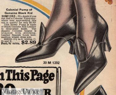 1922 colonial tongue pumps at VintageDancer