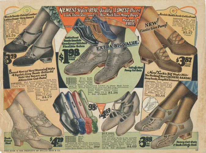 1924 Casual sporty style shoes at VintageDancer