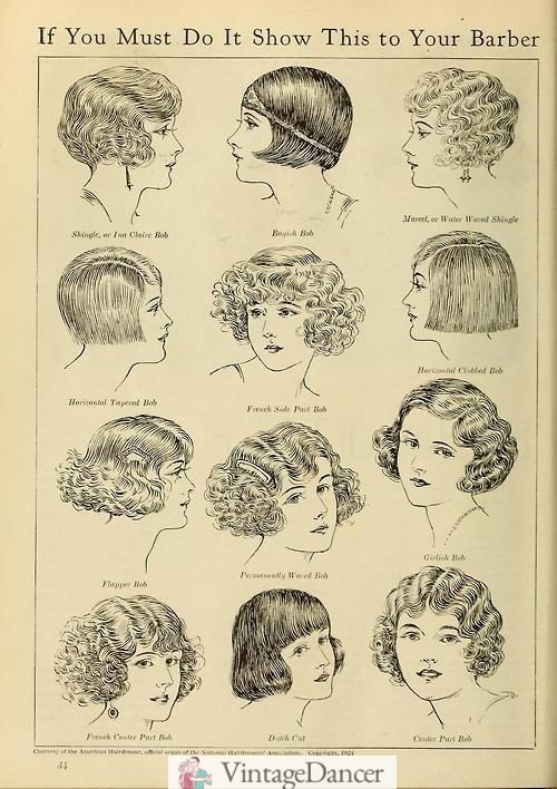 1920s hair styles history - 1924 hairstyles by name