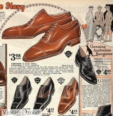 1924 various oxfords shoes for men 1920s