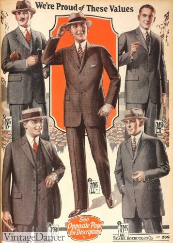 1925 conservative American mens suits