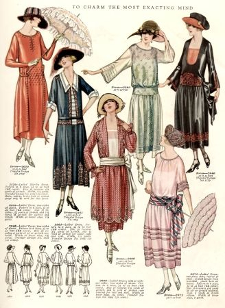 1925 afternoon dresses outfits