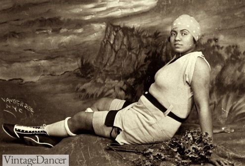 1925 swimsuit and swimboots